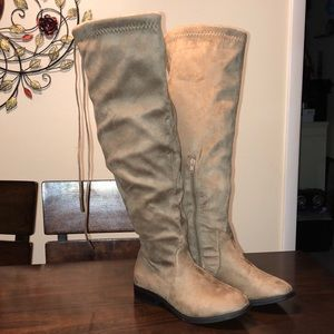 Charlotte Russe Tan Knee High Boots